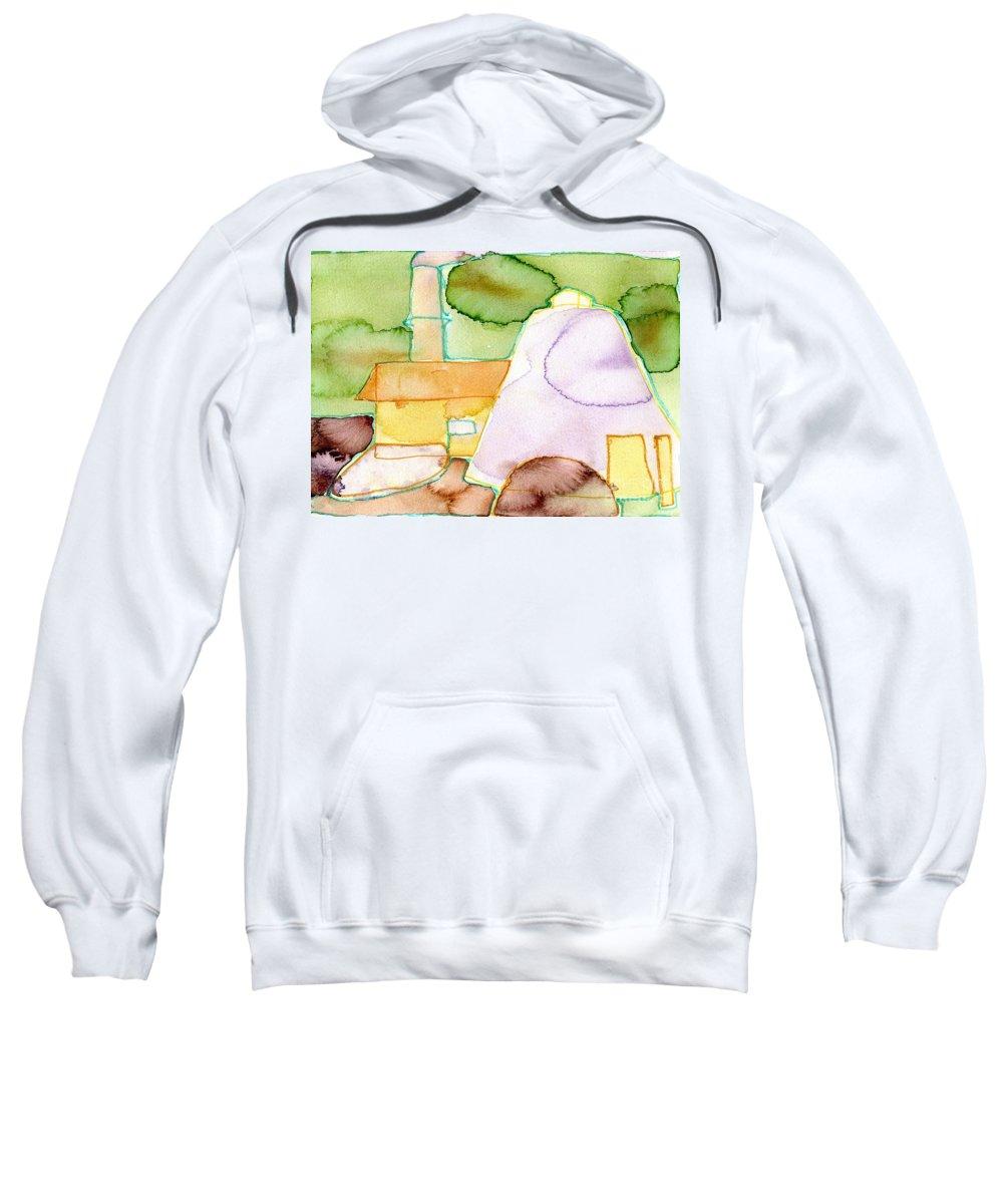 Pink Sugar Heap - Modern Fine Art - Original Painting - Watercolour Painting - Elizabethafox Sweatshirt featuring the painting Pink Sugar Heap by Elizabetha Fox
