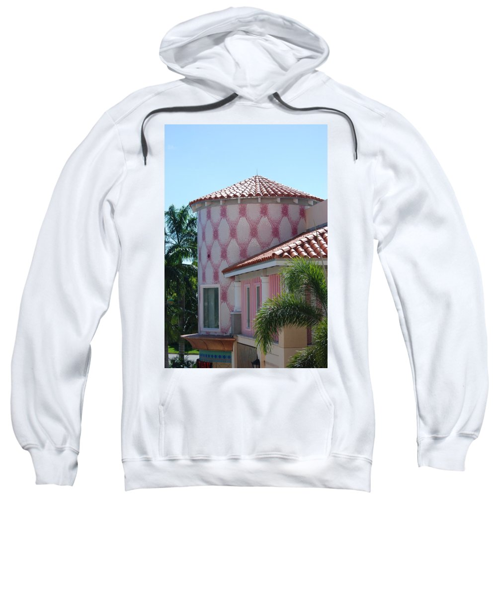 Architecture Sweatshirt featuring the photograph Pink Tower by Rob Hans