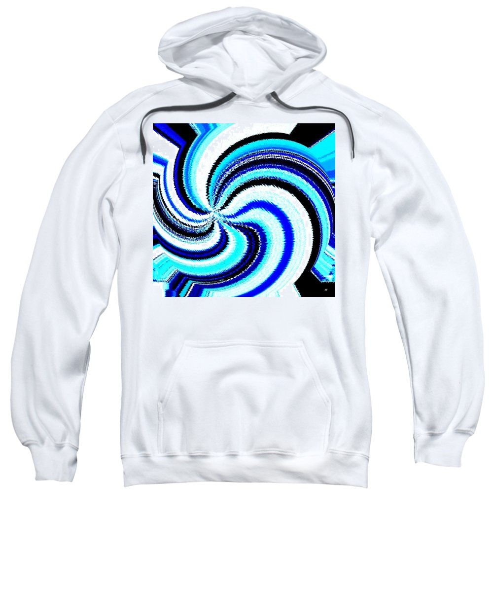 Abstract Sweatshirt featuring the digital art Pizzazz 27 by Will Borden