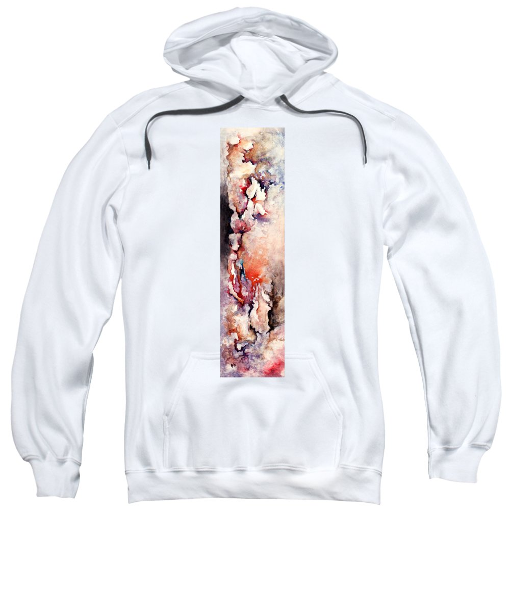 Abstract Sweatshirt featuring the painting Places In The Heart by Rachel Christine Nowicki
