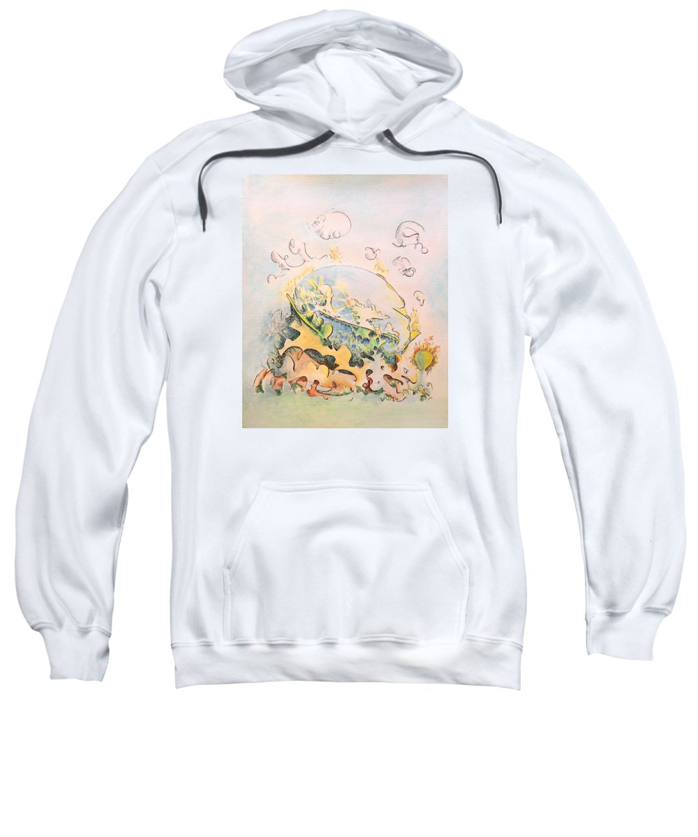 Planet Sweatshirt featuring the painting Planetary Chariot by Dave Martsolf