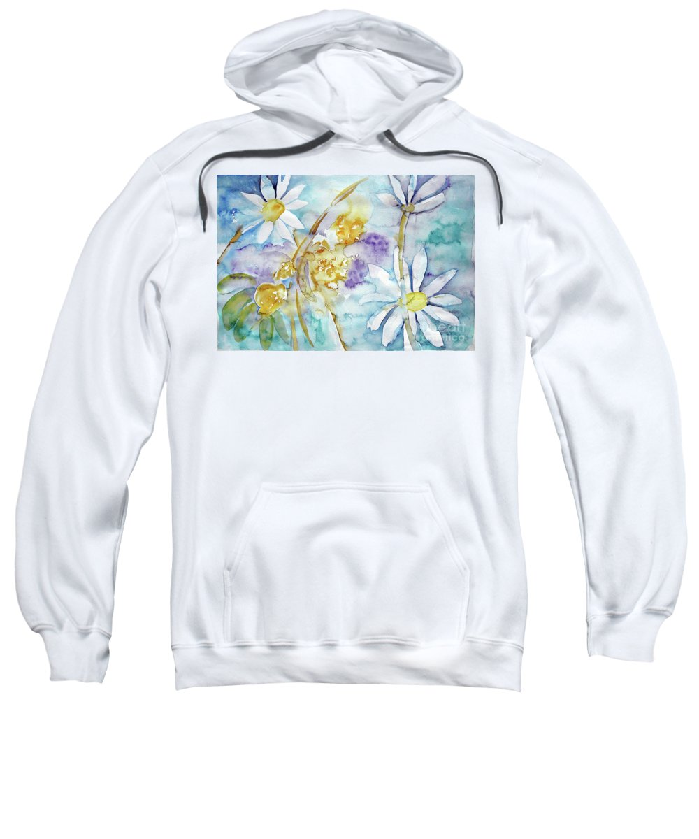 Flowers Sweatshirt featuring the painting Playfulness by Jasna Dragun