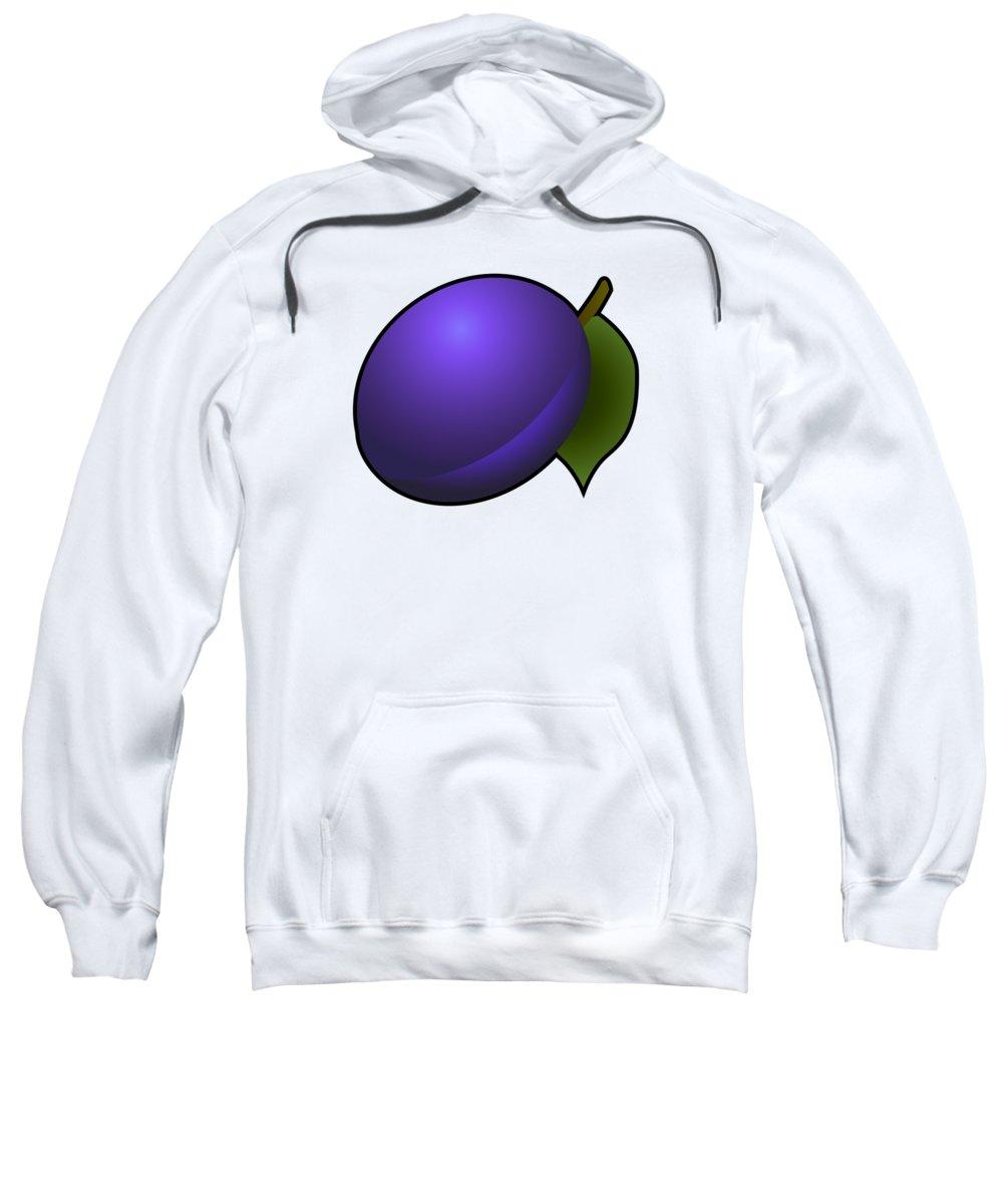 3d Sweatshirt featuring the digital art Plum Fruit Outlined by Miroslav Nemecek