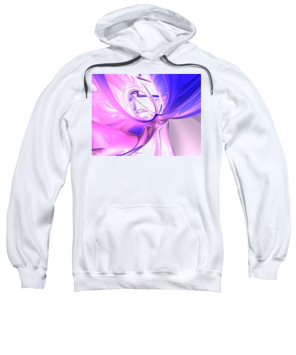 3d Sweatshirt featuring the digital art Plum Juices Abstract by Alexander Butler