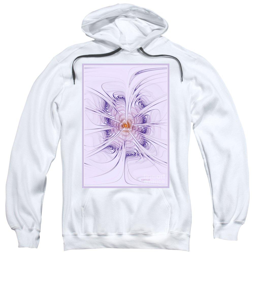 Purple Sweatshirt featuring the digital art Poiple Poiple by Deborah Benoit