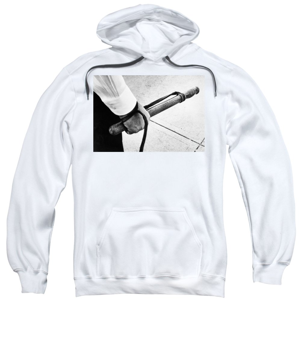 1961 Sweatshirt featuring the photograph Police Nightstick by Granger