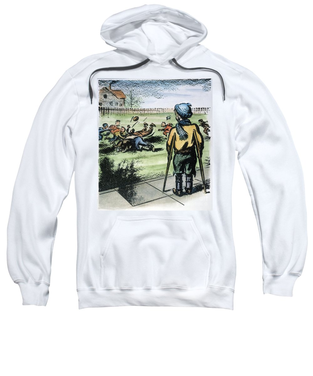 1957 Sweatshirt featuring the photograph Polio Cartoon, 1957 by Granger