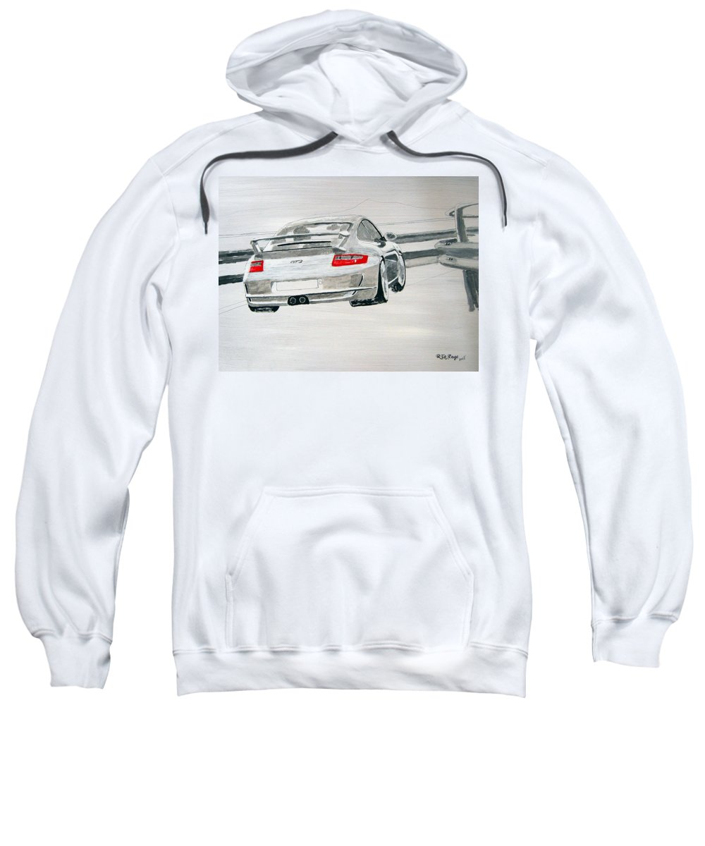 Porsche Gt3 Sweatshirt featuring the painting Porsche Gt3 by Richard Le Page
