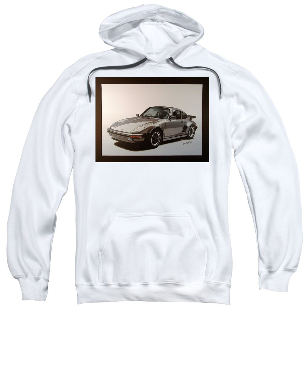 Car Sweatshirt featuring the painting Porsche by Shawn Stallings