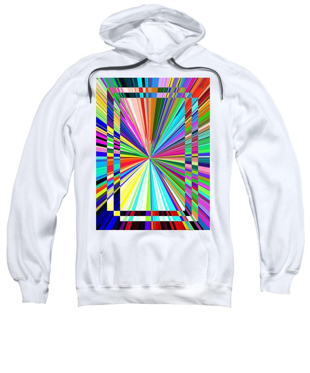 Abstract Sweatshirt featuring the digital art Portal 2 by Tim Allen