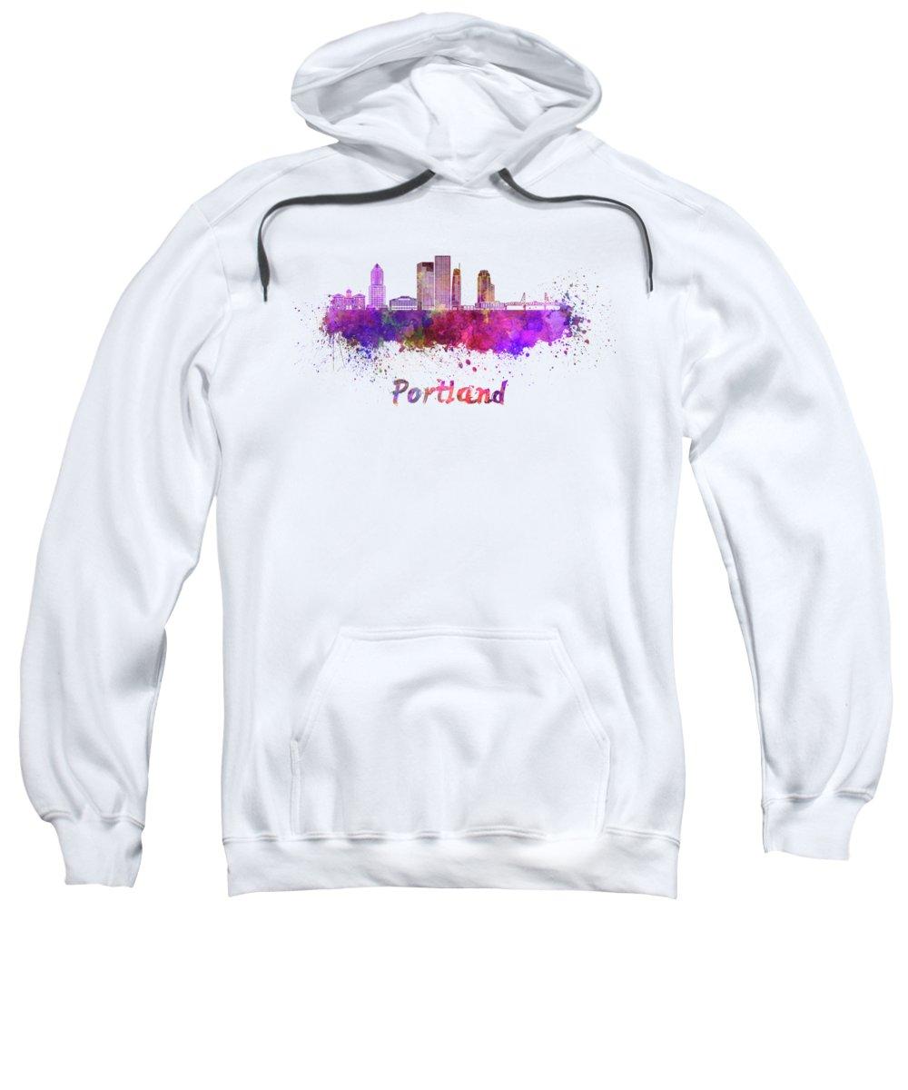 Portland Skyline Hooded Sweatshirts T-Shirts