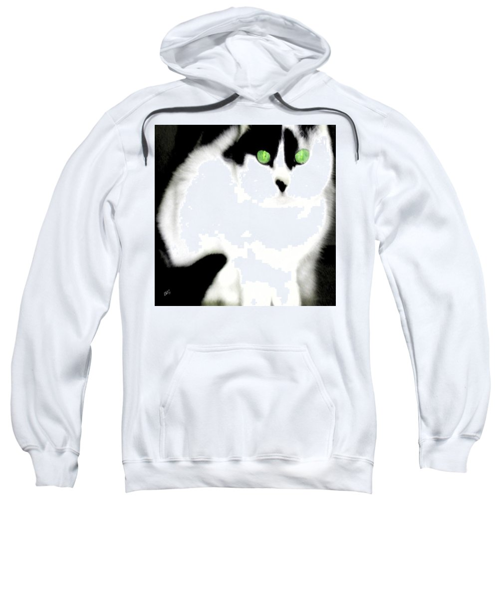 Cat Sweatshirt featuring the photograph Portrait Of A White Cat by Ben and Raisa Gertsberg