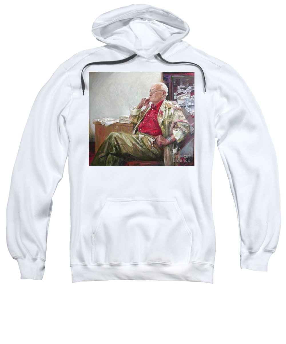 Oil Sweatshirt featuring the painting Portrait Of May Dancig by Sergey Ignatenko