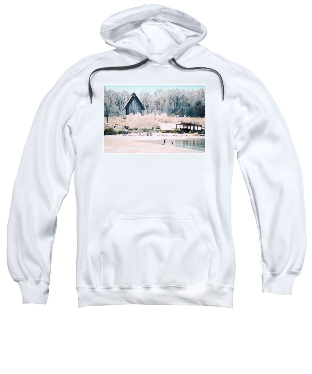 Landscape Sweatshirt featuring the photograph Powell Gardens Chapel by Steve Karol