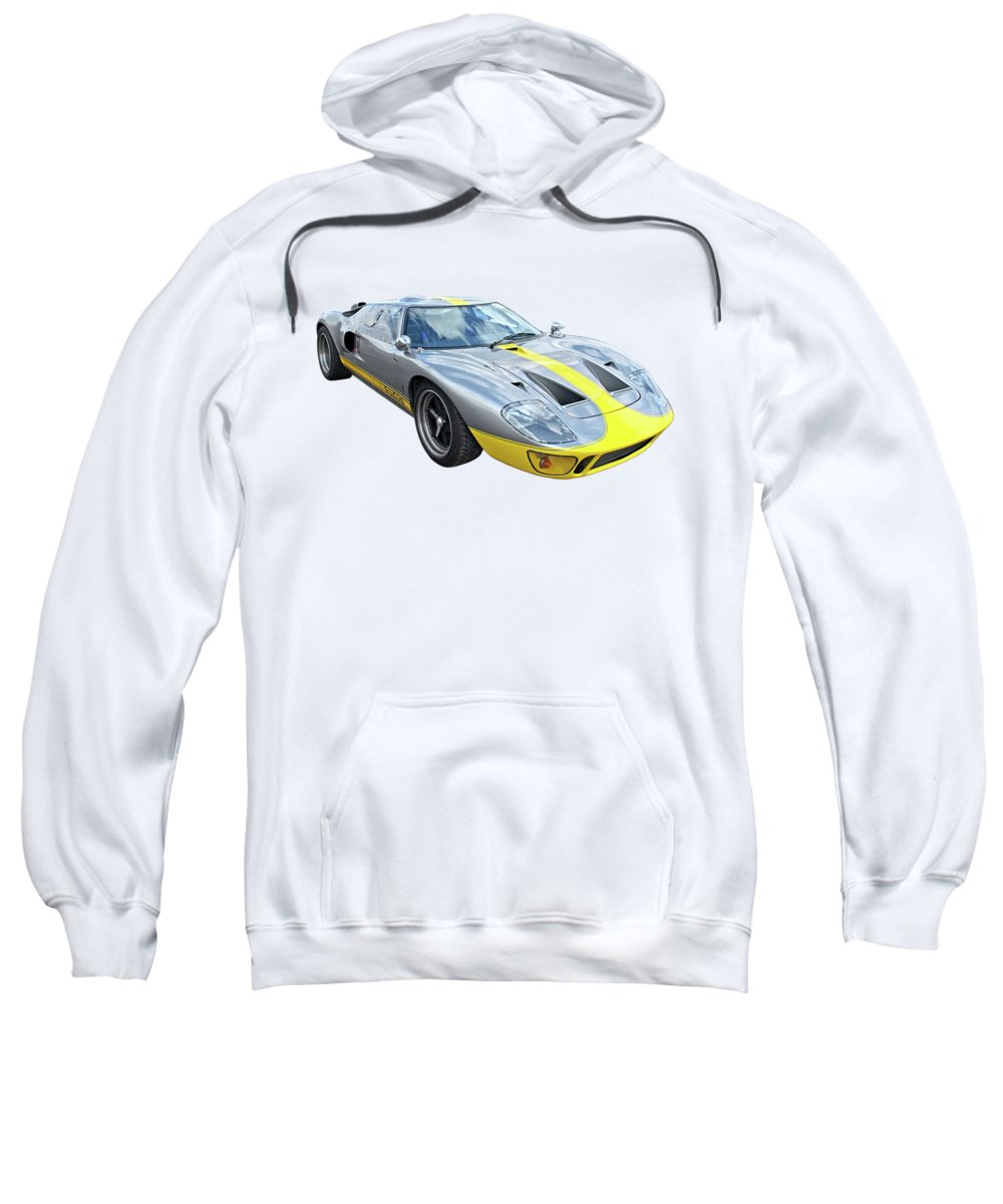 Ford Gt40 Sweatshirt featuring the photograph Power And Performance - Ford Gt40 by Gill Billington
