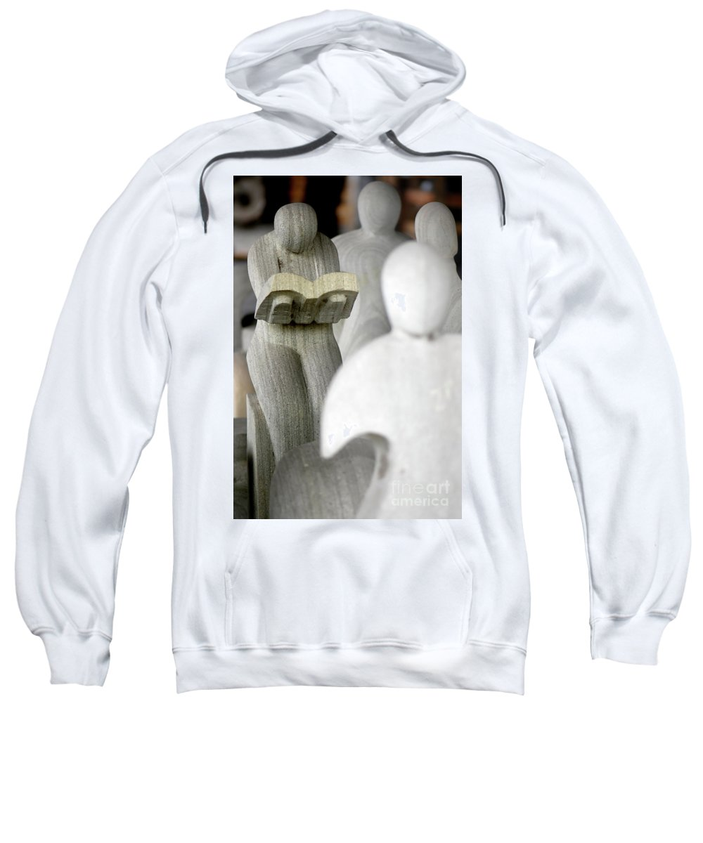Statues Sweatshirt featuring the photograph Prayers by Charuhas Images