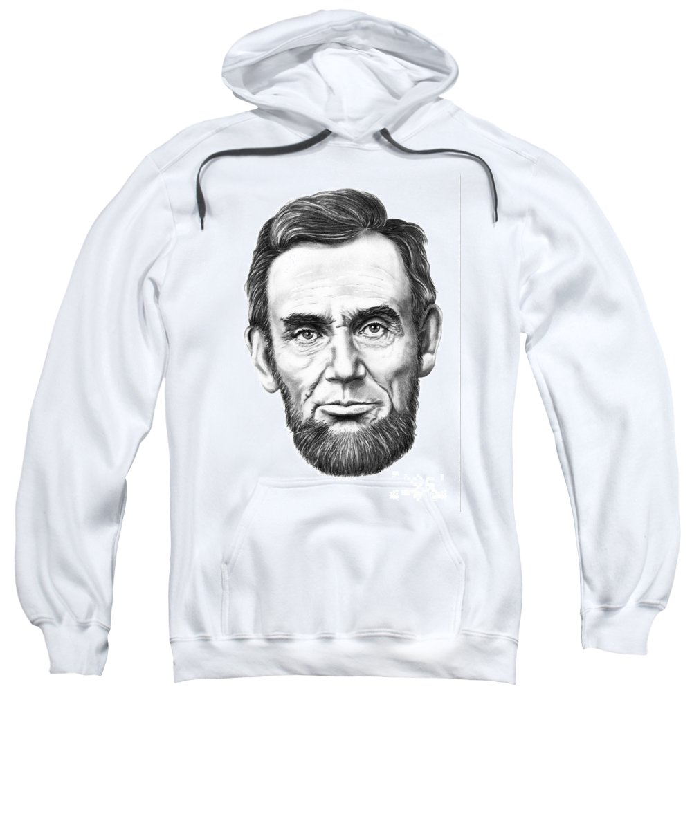 President Abe Lincoln Sweatshirt featuring the drawing President Abe Lincoln by Murphy Elliott