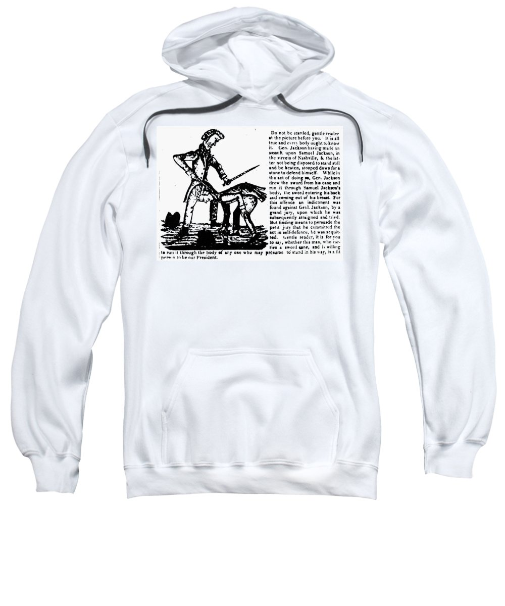 1828 Sweatshirt featuring the photograph Presidential Campaign, 1828 by Granger