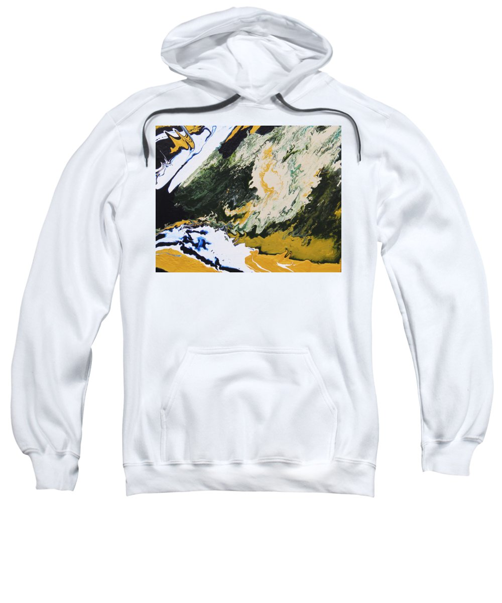 Fusionart Sweatshirt featuring the painting Primeval by Ralph White
