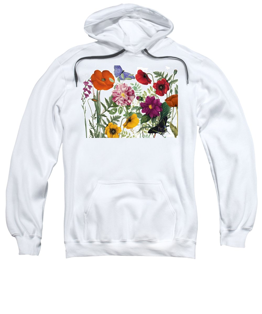 Flowers Sweatshirt featuring the painting Printemps by Mindy Sommers