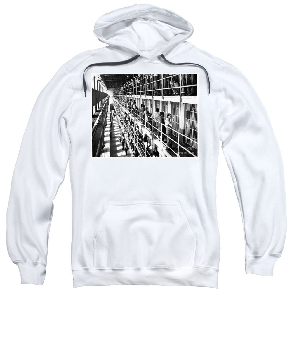 1954 Sweatshirt featuring the photograph Prison: San Quentin, 1954 by Granger