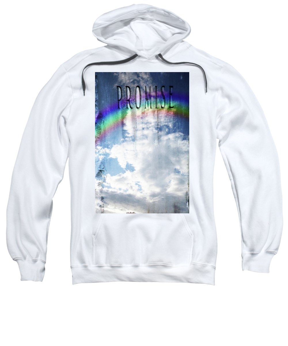 Rainbow Sweatshirt featuring the photograph Promise by Debbie Nobile