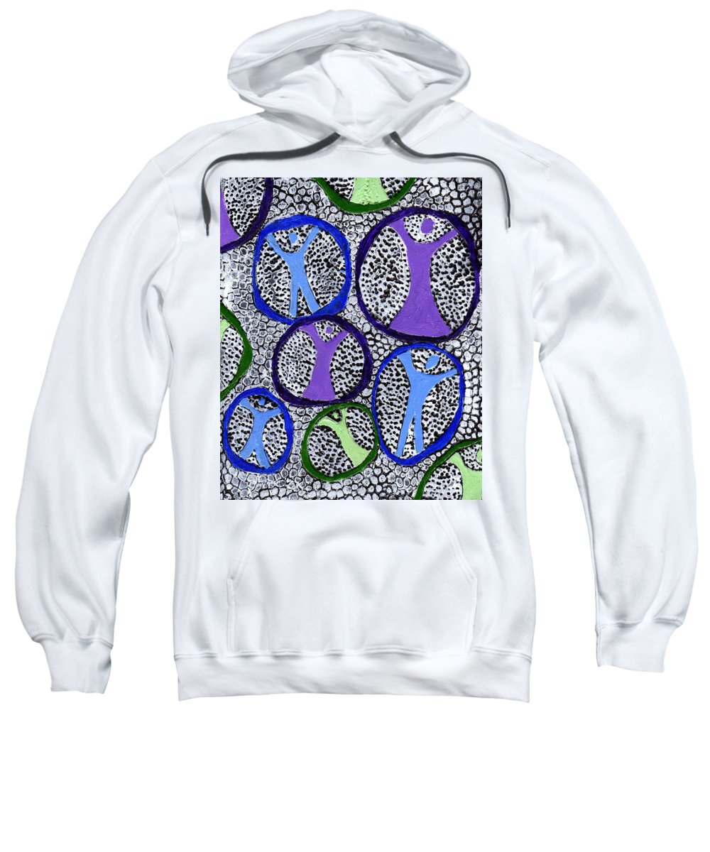 Symbolic Sweatshirt featuring the painting Protection Isolation by Wayne Potrafka