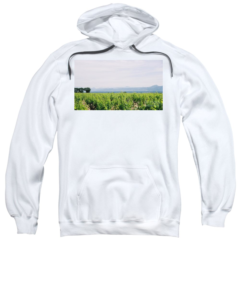 France Sweatshirt featuring the photograph Provence Spring Vineyard by Nadine Rippelmeyer