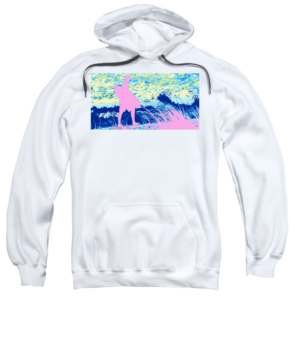 Florida Sweatshirt featuring the photograph Psychadelic Beach by Ian MacDonald