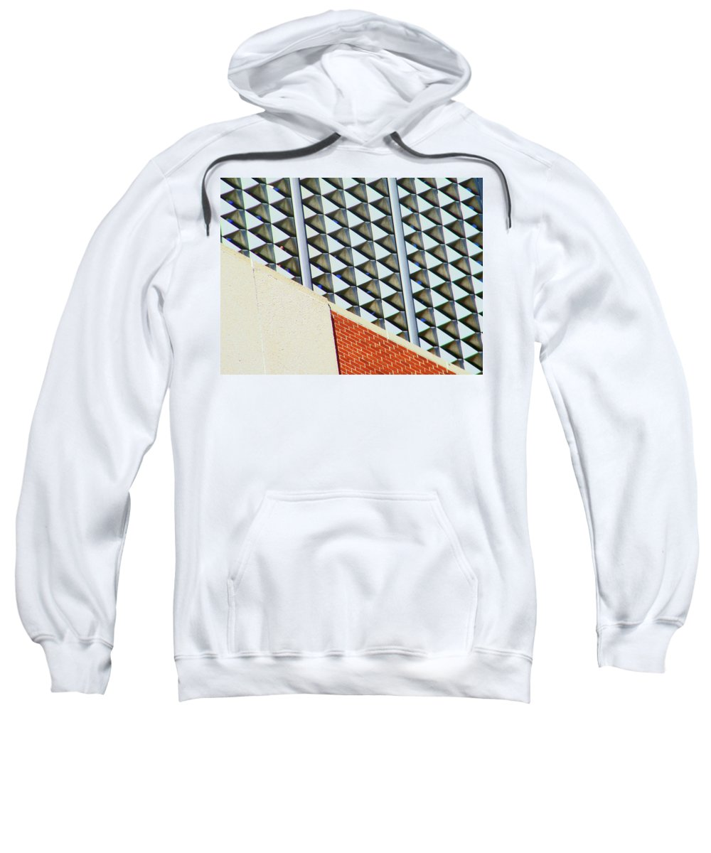 Abstract Sweatshirt featuring the photograph Pueblo Downtown Design by Lenore Senior