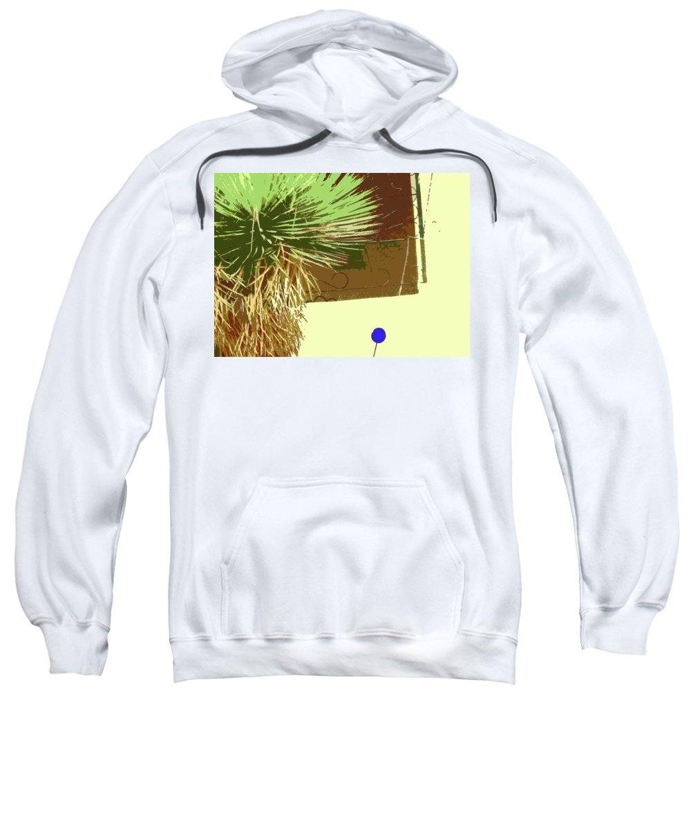 Abstract Sweatshirt featuring the digital art Pueblo Hacienda Design by Lenore Senior