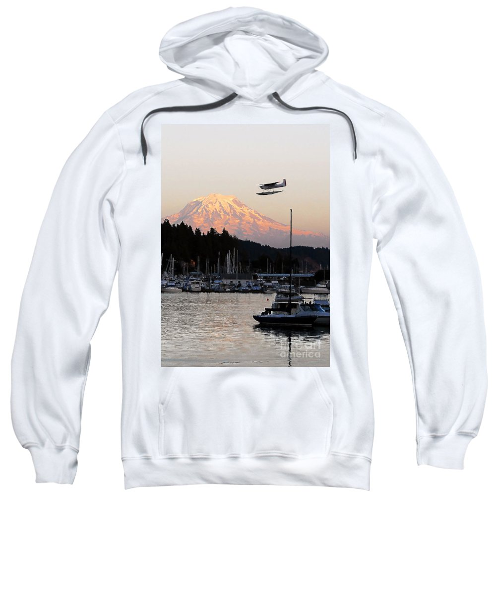 Puget Sound Sweatshirt featuring the photograph Puget Sound Landing by David Lee Thompson