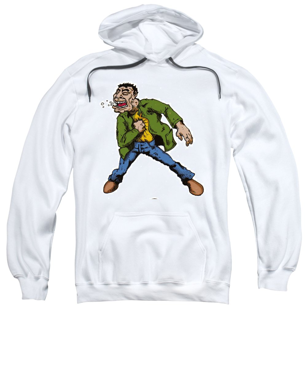 Illustration Sweatshirt featuring the drawing Punch by Tobey Anderson