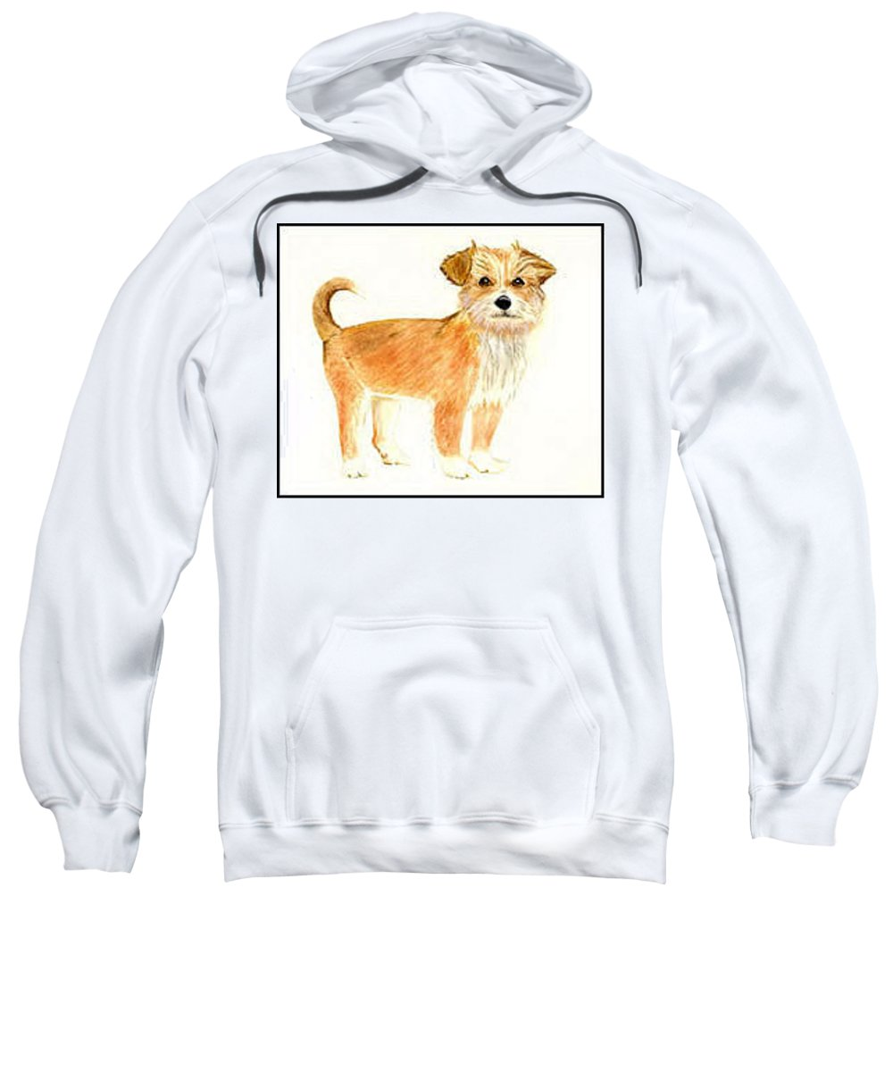 Dog Sweatshirt featuring the painting Puppy Dog  by Michael Vigliotti