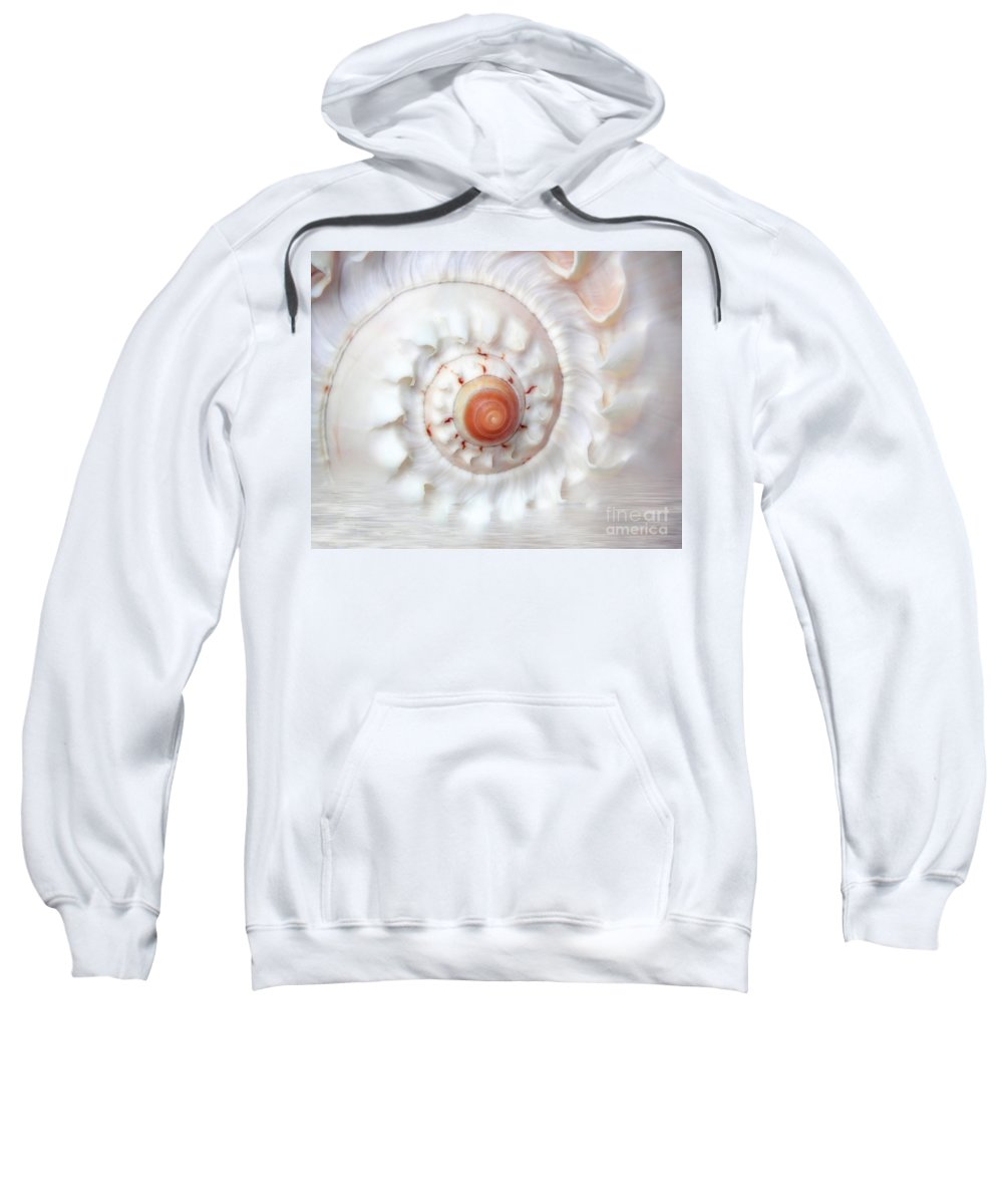 White Sweatshirt featuring the photograph Purify by Jacky Gerritsen