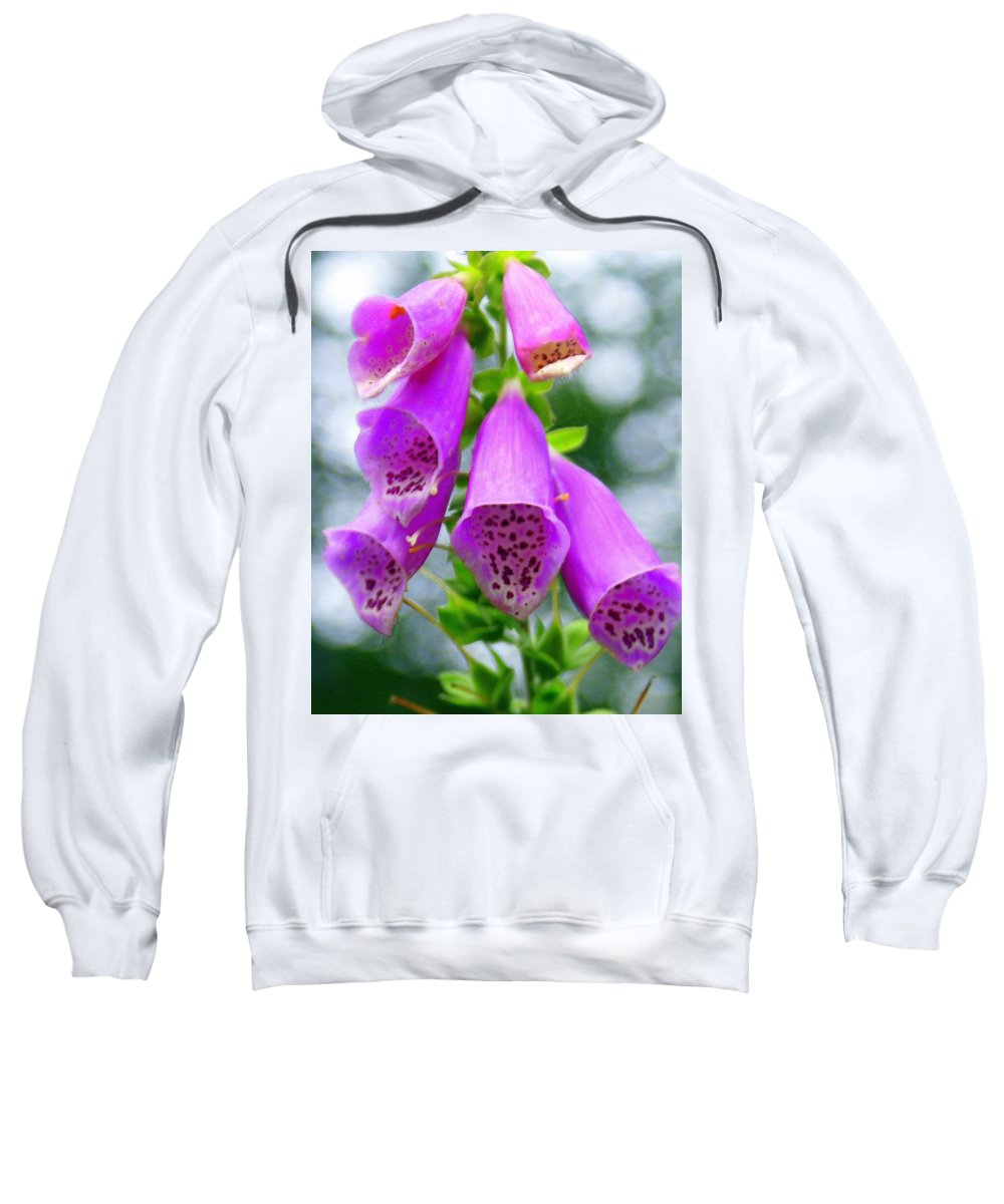 Flowers Sweatshirt featuring the photograph Purple Bells by Marty Koch