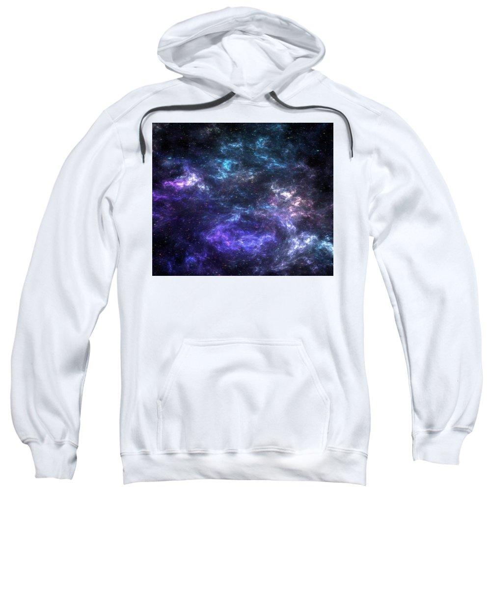 Sweatshirt featuring the mixed media Purple Galaxy by Zachary Govitz