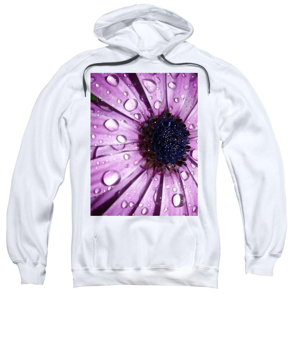 Purple Sweatshirt featuring the photograph Purple Rain by Marla McFall