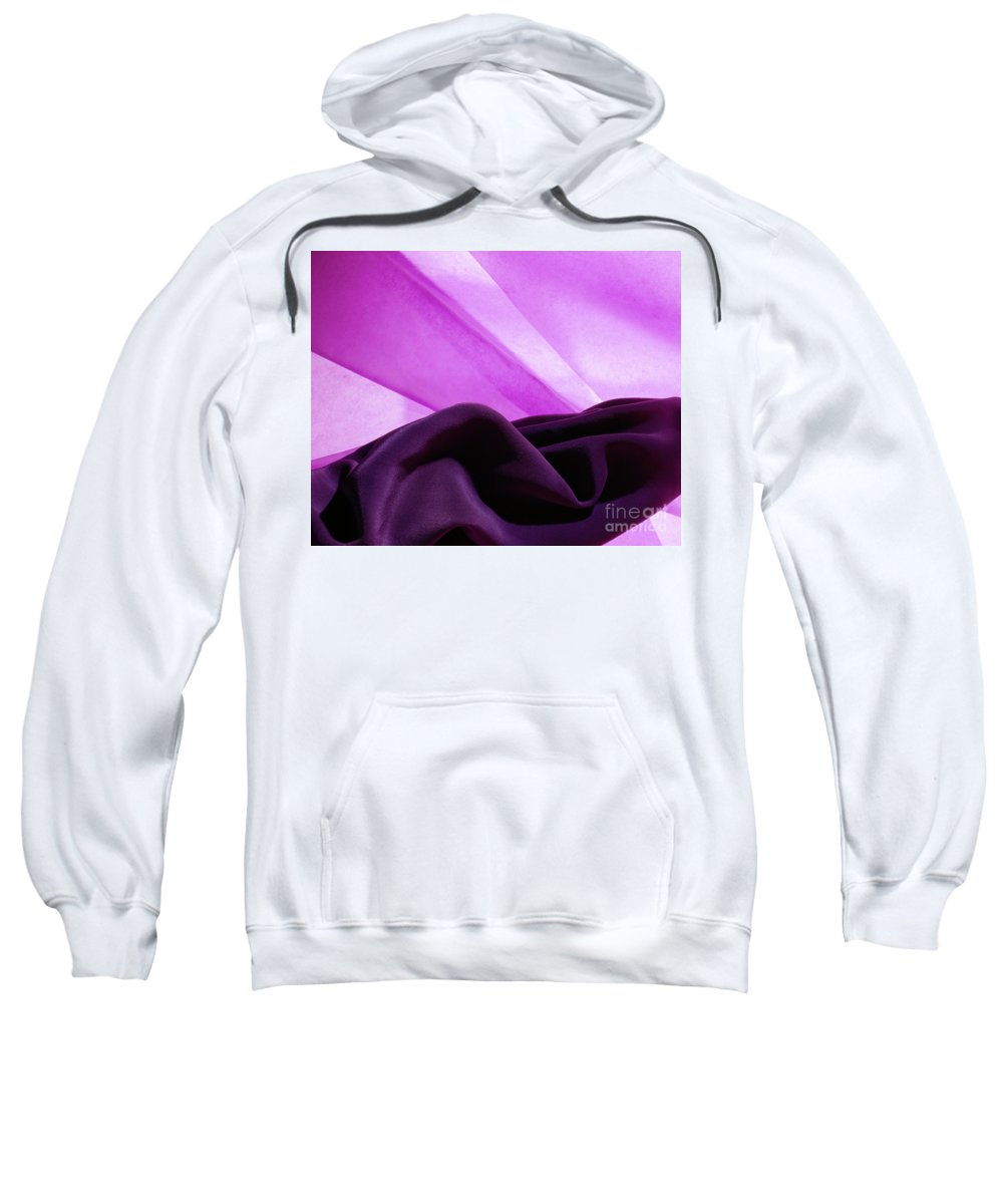 Abstract Sweatshirt featuring the photograph Purple Silk by Stefania Levi