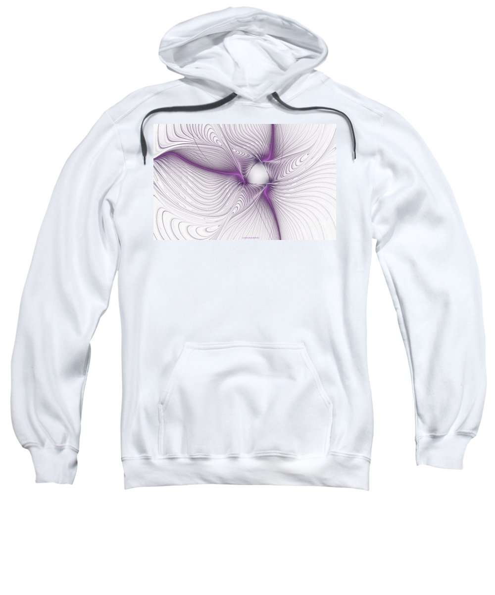 Apophysis Sweatshirt featuring the mixed media Purplish by Deborah Benoit