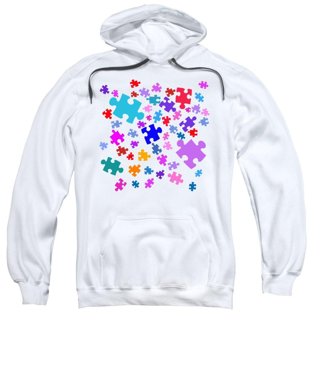 women's Fashion teen Fashion girl's Fashion Fashion Sweatshirt featuring the photograph Puzzle Pieces by Bill Owen
