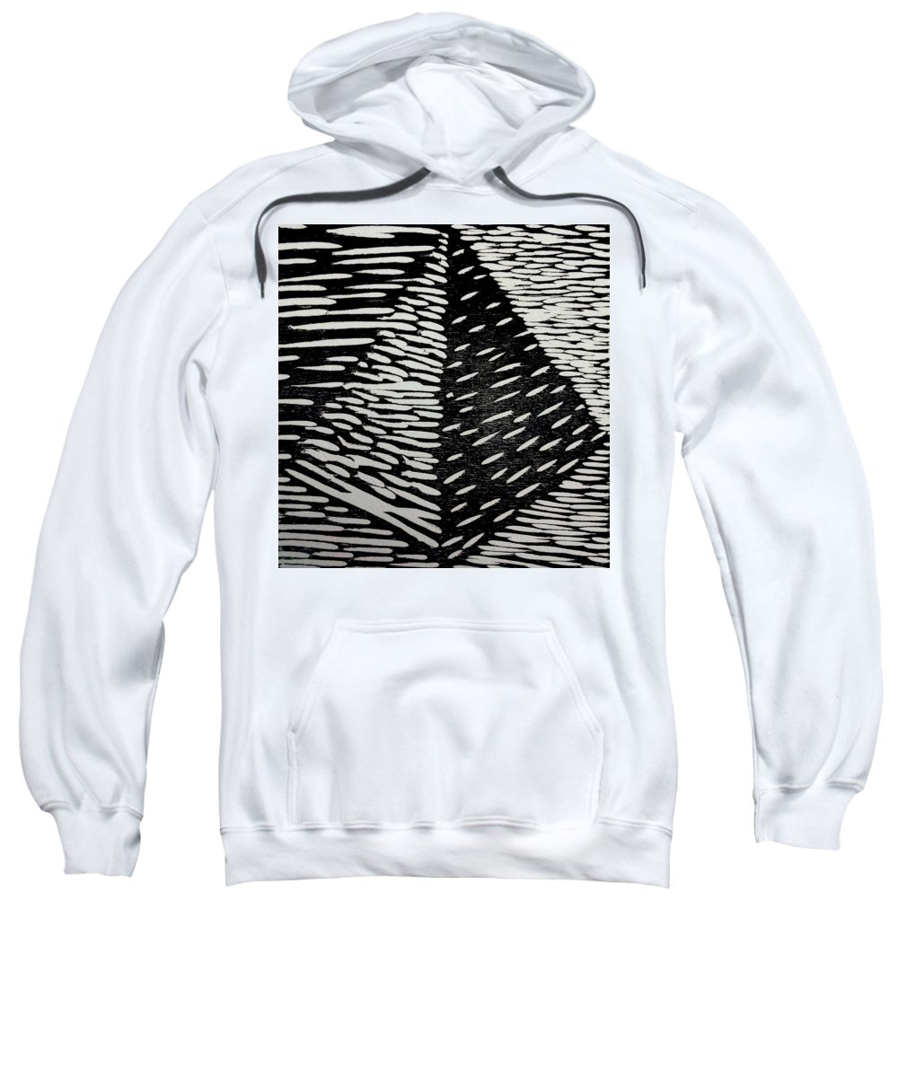 Print Sweatshirt featuring the mixed media Pyramid by Maddie Morriss