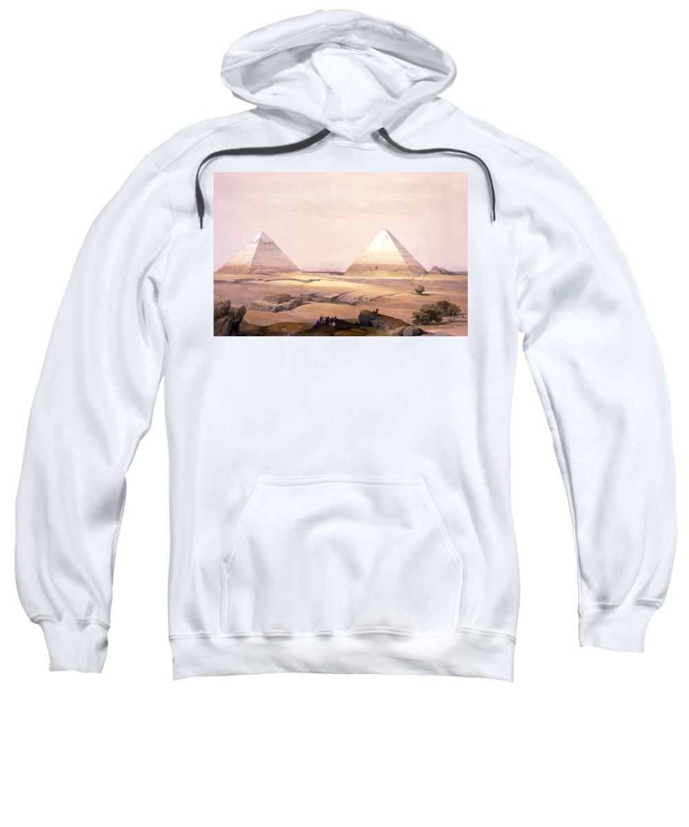 Egypt Sweatshirt featuring the digital art Pyramids Of Geezeh - Egypt by Munir Alawi