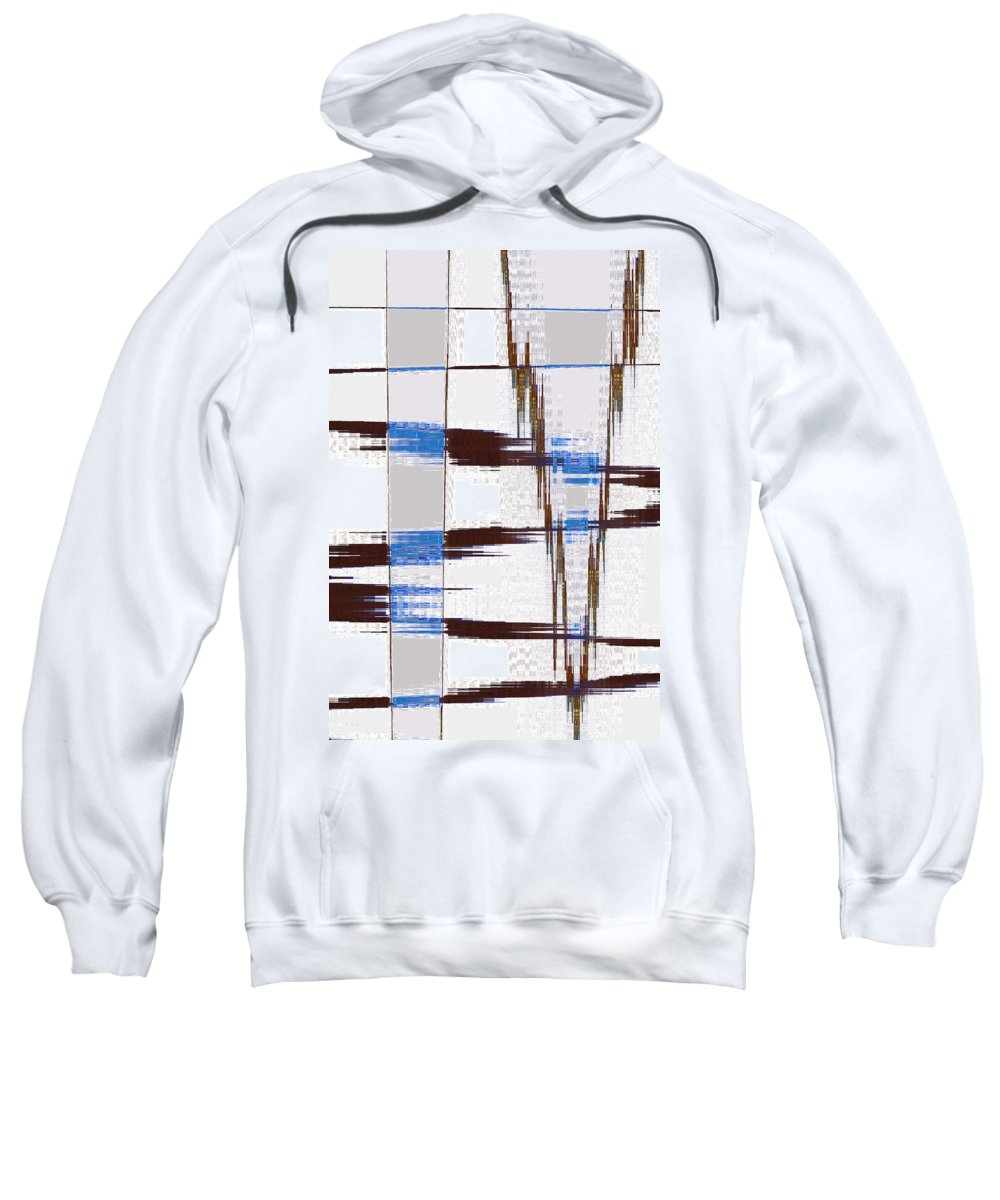 Abstract Sweatshirt featuring the digital art Quiet Abstract by Lenore Senior