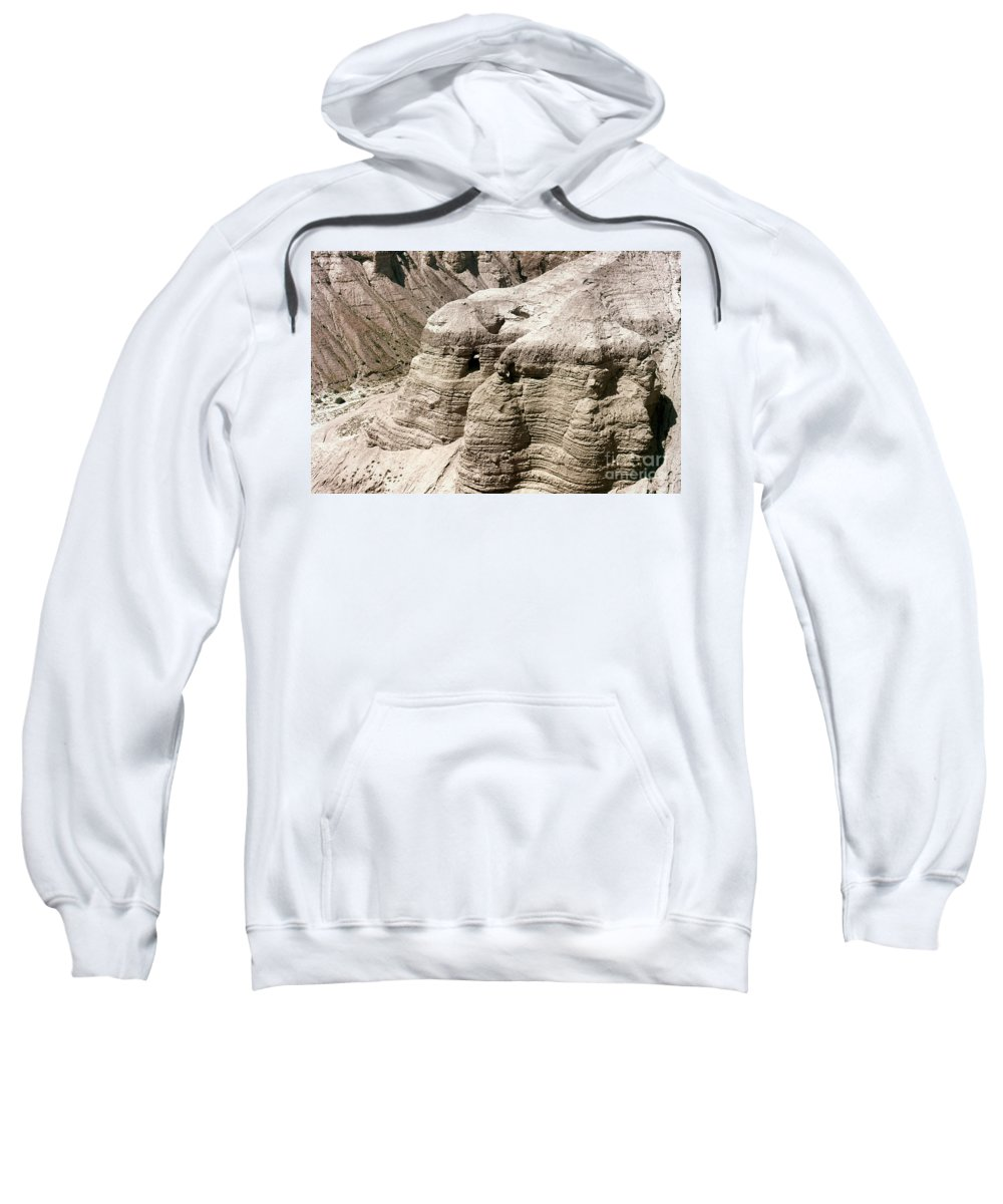 Ancient Sweatshirt featuring the photograph Qumran: Dead Seal Scrolls by Granger