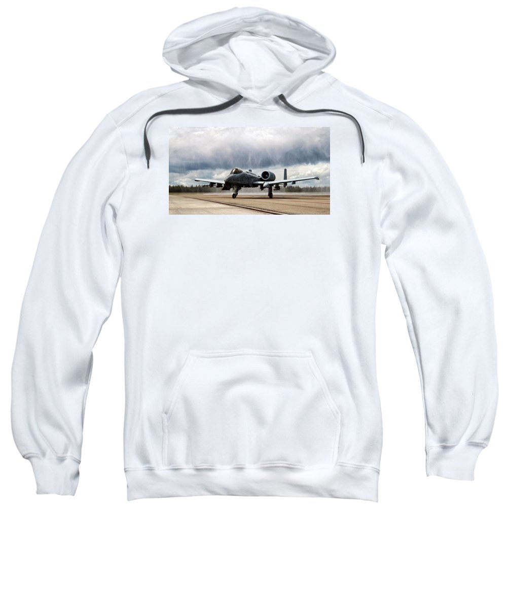 Aviation Sweatshirt featuring the digital art Rain Dance by Peter Chilelli