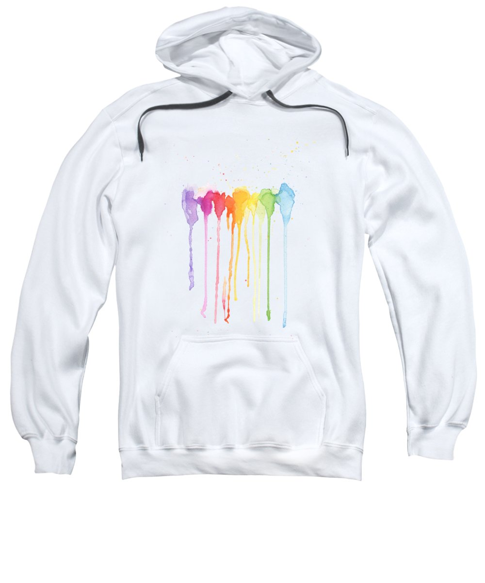 Rainbow Color Sweatshirt featuring the painting Rainbow Color by Kathleen Wong
