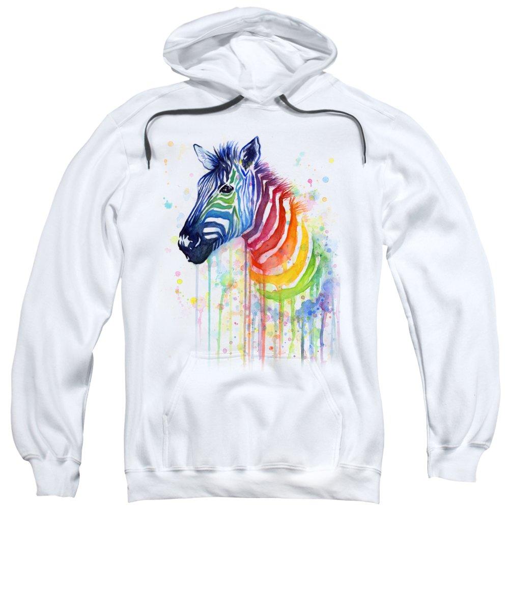 Zebra Hooded Sweatshirts T-Shirts