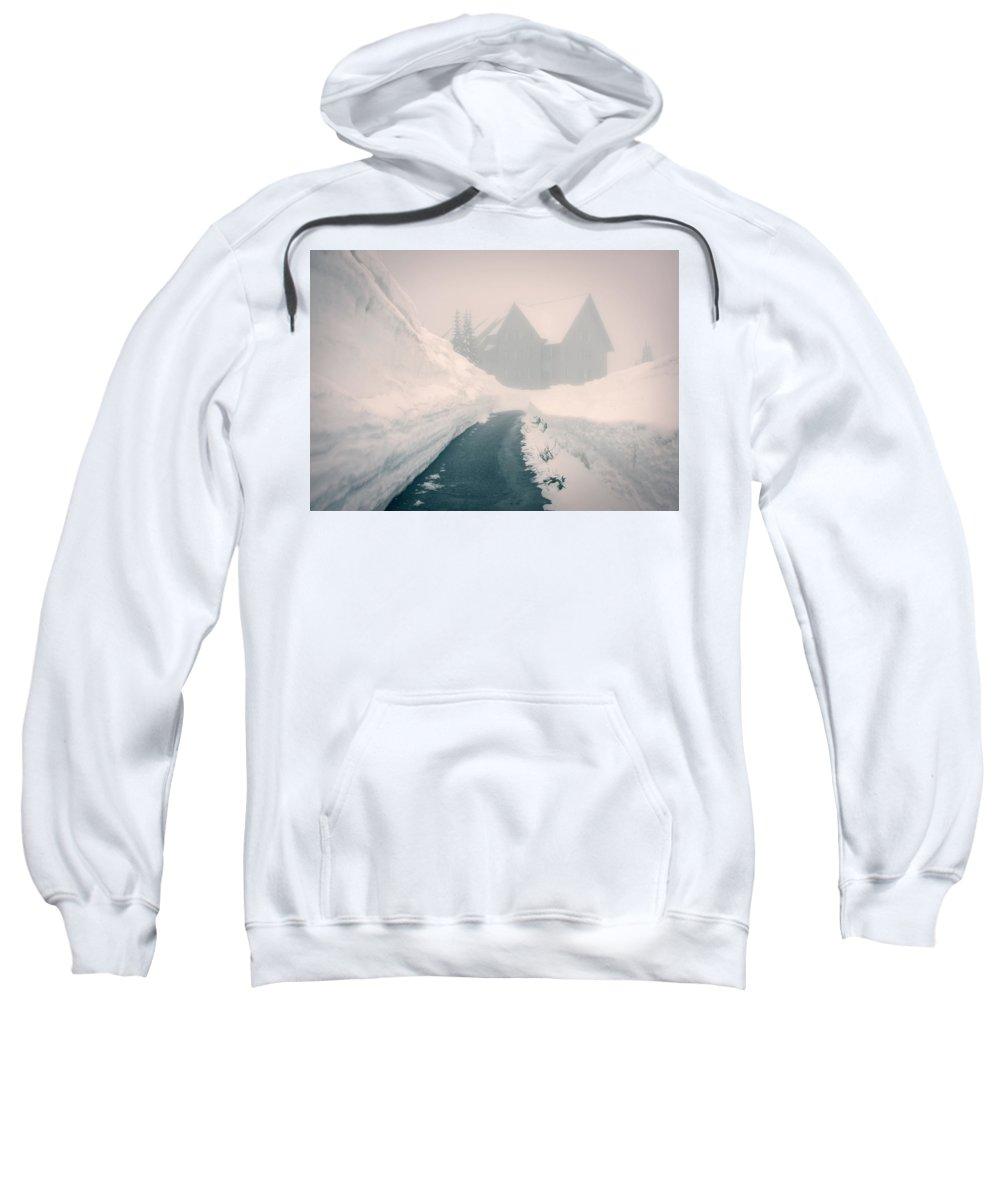 North Sweatshirt featuring the photograph Rainier Haunting by Ursa Davis