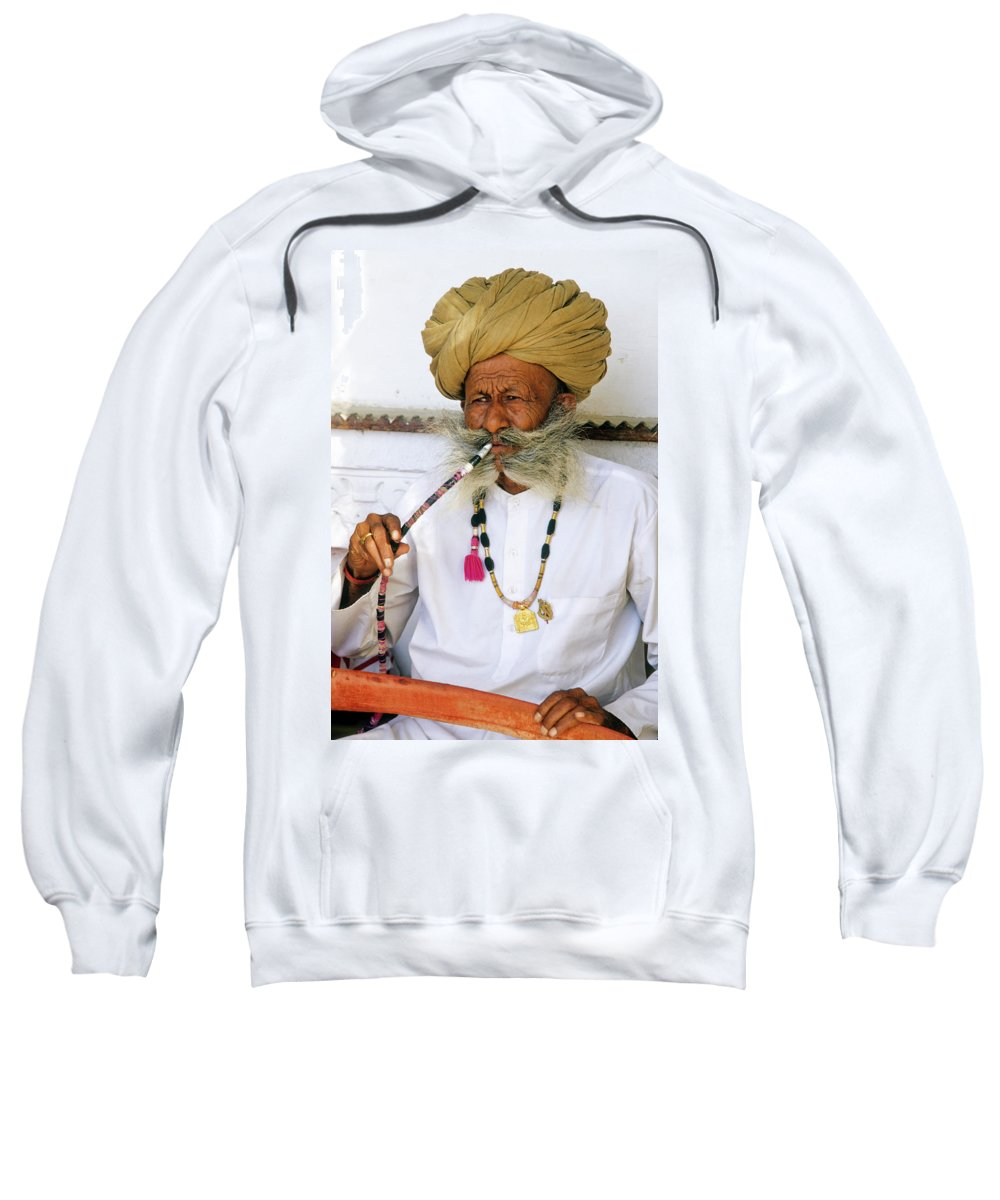 India Sweatshirt featuring the photograph Rajasthani Elder by Michele Burgess